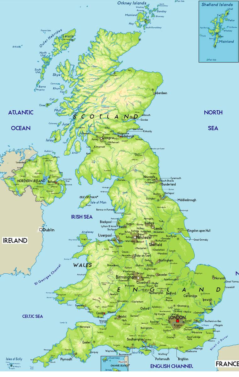 Cartina Fisica Del Regno Unito.Vorstetoten Site